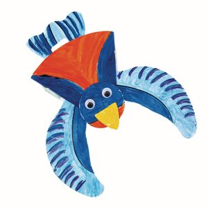 Colorations Make & Decorate Your Own Flapping Bird - Set of 12