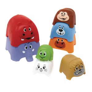 Animal Party Stacker Toy Set of 8