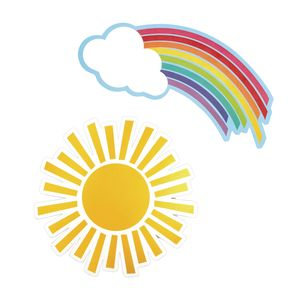 Hello Sunshine! Rainbows & Suns Cut-Outs - 36 Pieces