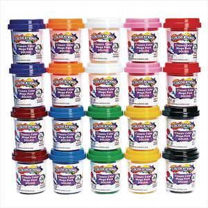 Colorations® Classic Dough, Set of 20, 10 Colors, 2 oz pots