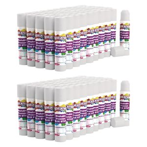 Colorations® Premium White Washable Glue Sticks, Set of 100, 0.17 oz each