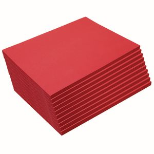 Heavyweight Holiday Red Construction Paper, 9