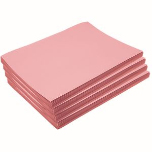 "Heavyweight Pink Construction Paper, 9"" x 12"", 200 Sheets"