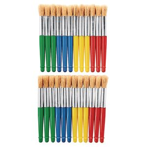Colorations® Plastic Jumbo Chubby Brushes, Set of 24