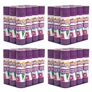 48 Colorations® Best-Value Washable Purple Glue Sticks, Large (.88 oz.)