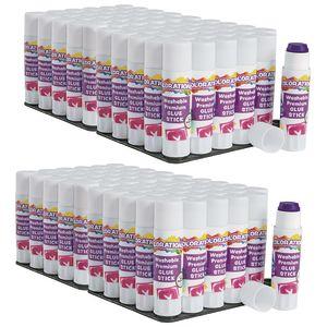 Colorations® Washable Premium Purple Glue Sticks, Set of 120, 0.32 oz ea