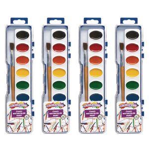 Colorations® Regular Best Value Watercolor Paints, 4 Palettes, 8 Colors ea