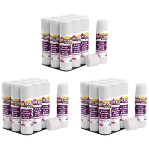 Colorations® Premium Washable White Glue Sticks in a Tray, set of 36, 0.88 oz ea