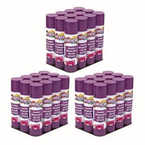 Colorations® Jumbo Washable Purple Glue Sticks, Set of 36, 1.41 oz each