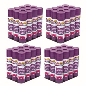 Colorations® Jumbo Washable Purple Glue Sticks, Set of 48, 1.41 oz each