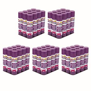 Colorations® Jumbo Washable Purple Glue Sticks, Set of 60, 1.41 oz each