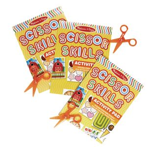 Melissa & Doug Scissor Skills Activity Pad with Scissors - Set of 3