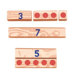 Excellerations® Hook & Loop Number Blocks - Set of 27