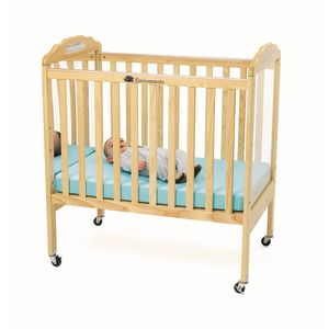 Environments® Compact Adjustable Clear View/Mirror Crib