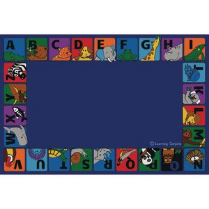 Alpha Animals Border Premium Carpet - 8' x 12' Rectangle