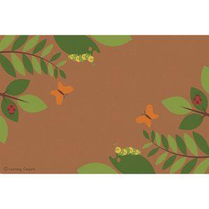 Fern Corner Premium Carpet, Brown - 6' x 9' Rectangle