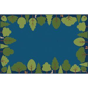 Friendly Forest Premium Carpet, Blue - 6' x 9' Rectangle