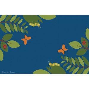 Fern Corner Premium Carpet, Blue - 8' x 12' Rectangle