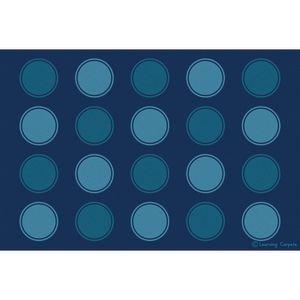 Seating Dots Premium Carpet, Two-Tone Blue - 6' x 9' Rectangle