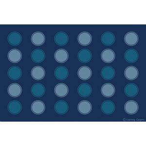 Seating Dots Premium Carpet, Two-Tone Blue - 8' x 12'  Rectangle