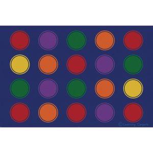 Seating Dots Premium Carpet, Primary - 6' x 9'  Rectangle