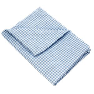 Angels Rest® Gingham Blue Standard Cot Sheet