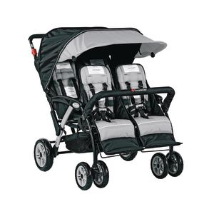 Foundations® Quad Sport™ 4-Passenger Stroller - Gray