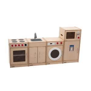 Toddler Wooden Complete Kitchen Set