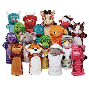 Animal Friends Hand Puppets Set of 16
