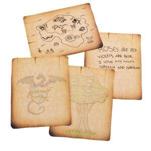 Antique Paper, 8 Designs, Set of 32 Sheets
