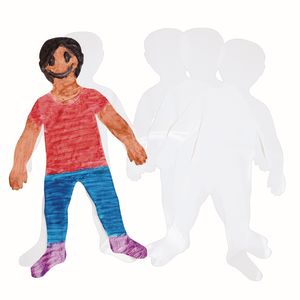 Roylco Jumbo Cut out Kids, Set of 24