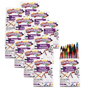 Colorations® Regular Crayons, Set of 24 Colors, 12 Packs