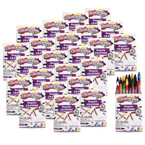 Colorations® Regular Crayons, Set of 24 Colors, 24 Packs