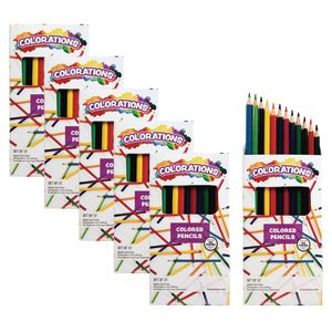 Colorations Color Pencils, 12 Colors, 6 Packs
