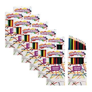 Colorations Color Pencils, 12 Colors, 12 Packs