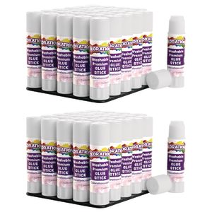 Colorations® Washable Premium White Glue Sticks Set of 60, 0.32 oz ea
