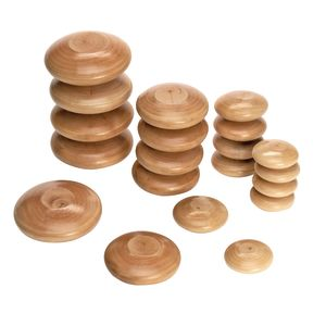 Excellerations® Natural Wood Stacking Stones Set of 20