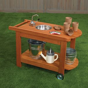 Excellerations® Outdoor Rolling Planting Cart with Water Pump