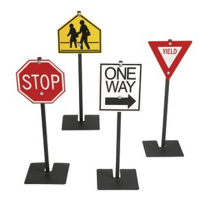 Angeles® Traffic Signs - Set of 4