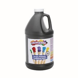 Colorations®1/2 Gallon Black Simply Washable Tempera Paint