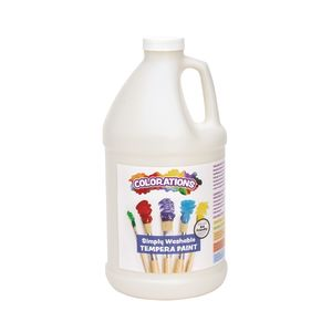 Colorations® 1/2 Gallon White Simply Washable Tempera Paint