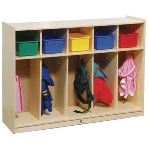 Toddler 5-Section Locker