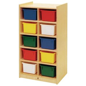 Slim 10-Tray Storage with Multi-Colored Trays