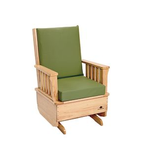Premium Easy-Care Glider Rocker with Sage Cushion