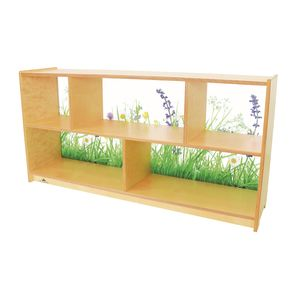 Nature View Acrylic Back Cabinet - 24