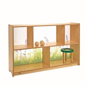 Nature View Acrylic Back Cabinet - 30
