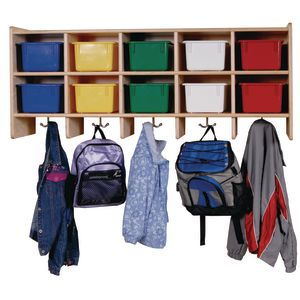 10-Section Wall Locker with Multi-Colored Trays