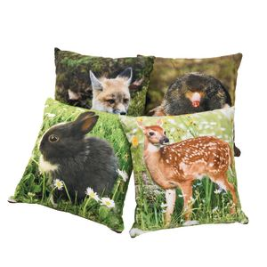 Baby Woodland Animal Pillows, Set of 4