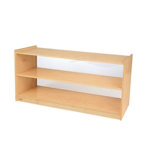 Straight Shelf Clear Back Storage