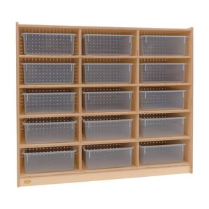 15-Tray Storage Cabinet with Clear Trays